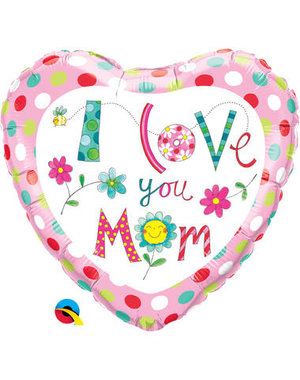 Foliebalon Folieballon I Love Yo Mom - 45cm