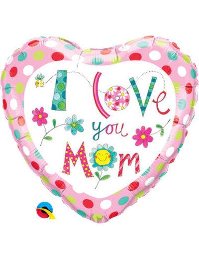 Foliebalon Folieballon I Love Yo Mom - 45cm