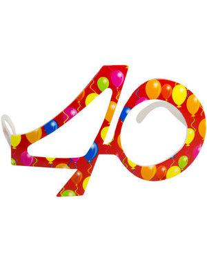 Accessoires Bril Balloons 40 Jaar