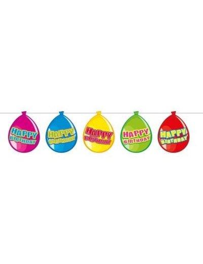 versiering Gekleurde  Ballonnen Slinger Happy Birthday