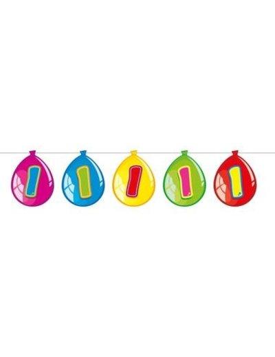 versiering Gekleurde  Ballonnen Slinger - 1