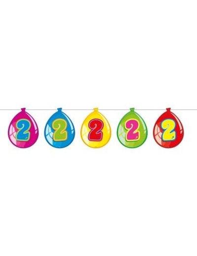 versiering Gekleurde  Ballonnen Slinger - 2