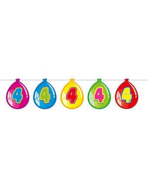 versiering Gekleurde  Ballonnen Slinger - 4