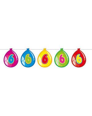 versiering Gekleurde  Ballonnen Slinger - 6