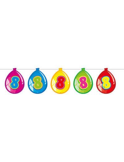 versiering Gekleurde  Ballonnen Slinger - 8