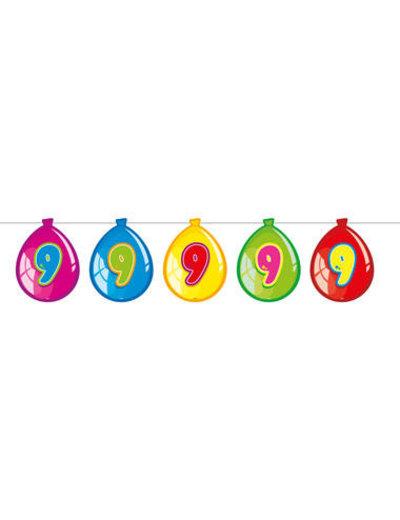 versiering Gekleurde  Ballonnen Slinger - 9