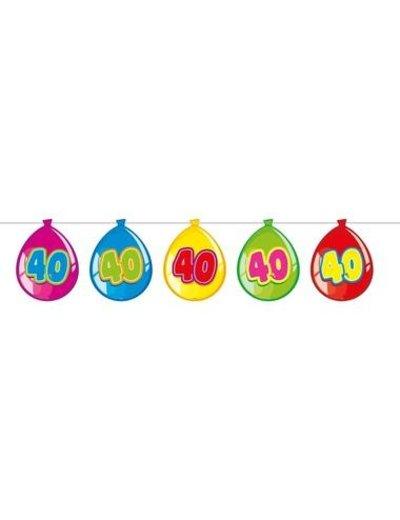 versiering Gekleurde  Ballonnen Slinger - 40