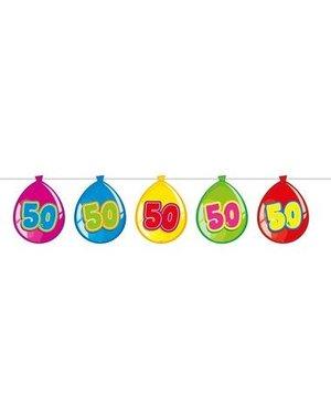 versiering Gekleurde  Ballonnen Slinger - 50