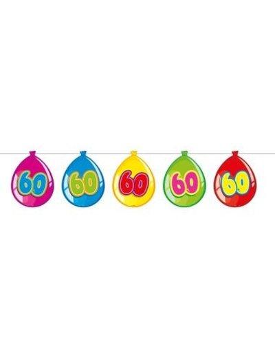 versiering Gekleurde  Ballonnen Slinger - 60