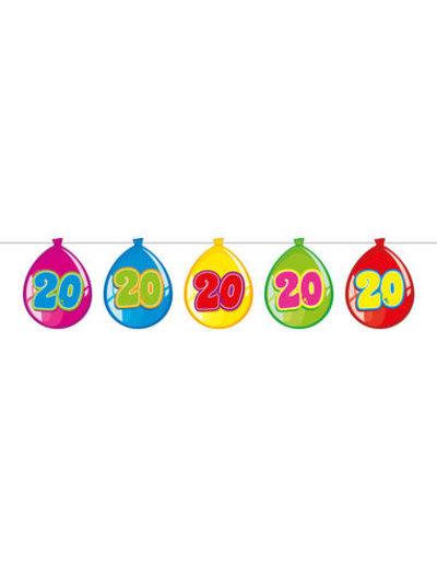 versiering Gekleurde  Ballonnen Slinger - 20