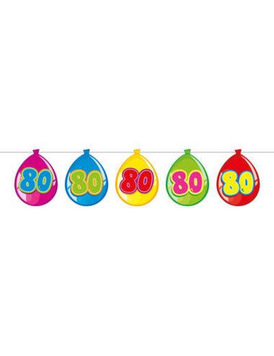 versiering Gekleurde  Ballonnen Slinger - 80