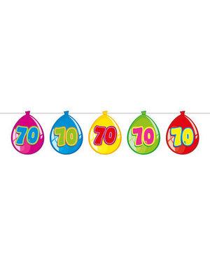 versiering Gekleurde  Ballonnen Slinger - 70