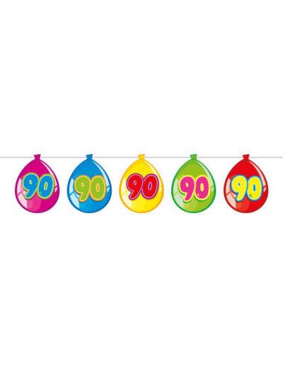 versiering Gekleurde  Ballonnen Slinger - 90