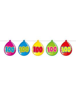 versiering Gekleurde  Ballonnen Slinger - 100