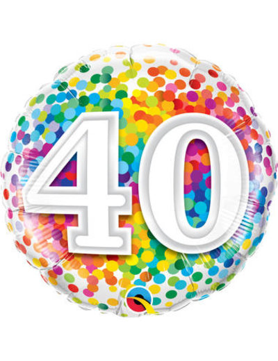 Foliebalon Folieballon Confetti Rainbow - 40