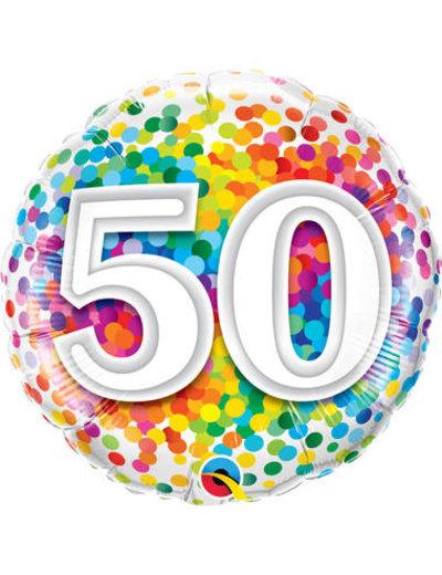 Foliebalon Folieballon Confetti Rainbow - 50