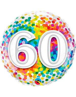 Foliebalon Folieballon Confetti Rainbow - 60