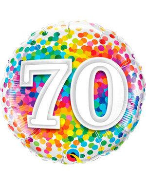 Foliebalon Folieballon Confetti Rainbow - 70