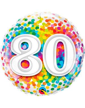 Foliebalon Folieballon Confetti Rainbow - 80