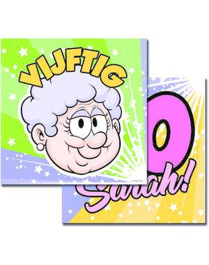 Tafelservies Servetten Regenboog 50 jaar Sarah