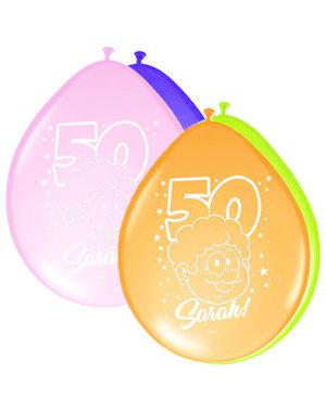 Ballonnen Ballonnen Regenboog 50 jaar Sarah   - 8stk