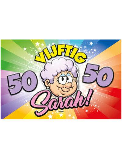Versiering Deurbord Regenboog 50 jaar Sarah