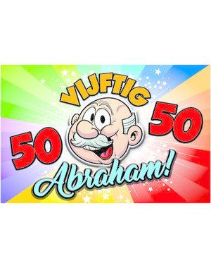 Versiering Deurbord Regenboog 50 jaar Abraham