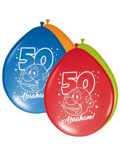 Ballonnen Ballonnen Regenboog 50 jaar Abraham  - 8stk