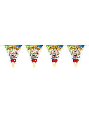 Ballonnen Vlaggenlijn Regenboog 50 jaar Abraham