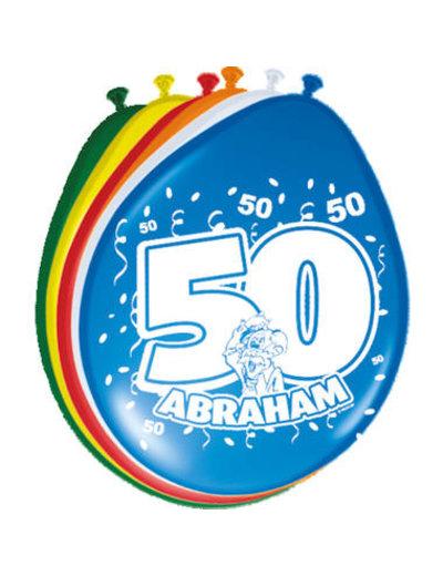 Abraham 50 jaar ballonnen 8 stuks