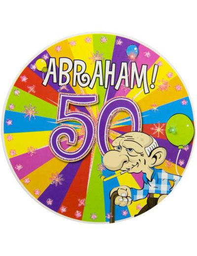 accessoires Party Button LED Abraham Knalfeest