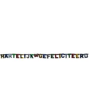 versiering Letterslinger Hartelijk Gefeliciteerd