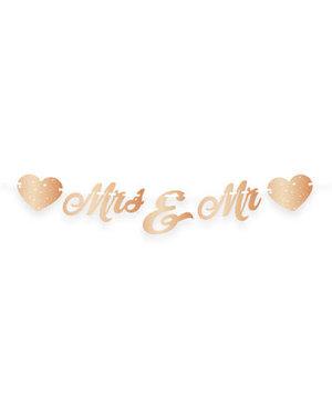 versiering Letterslinger Mr & Mrs