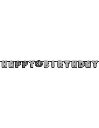 versiering Letterslinger Happy 21st Birthday
