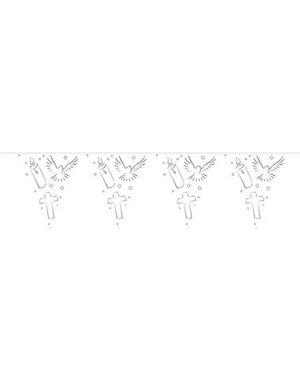 versiering Vlaggenlijn Communie Wit Duifjes