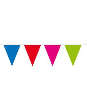 Vlaggenlijn Gekleurd  - 3mtr