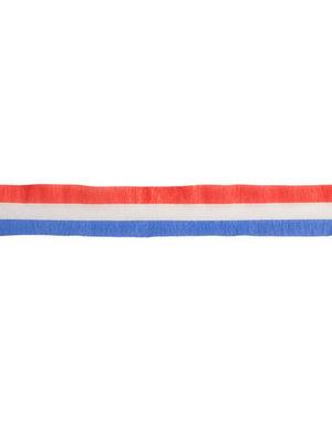 Versiering Rood/Wit/Blauw  Crêpe Slinger 24M