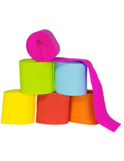 versiering Crepe Papier Rollen - 6 stuks