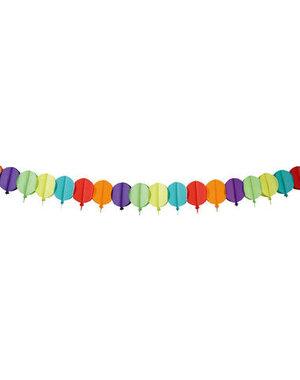 versiering Papier Slinger Balloons - 6 meter