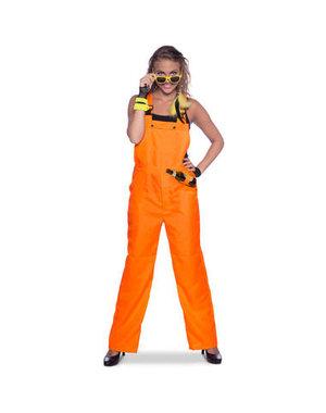 Kostuum Tuinpak Oranje Dames - S t/m XL
