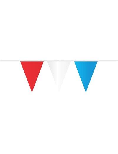 Versiering Vlaggenlijn Rood/Wit/Blauw  - 10mtr