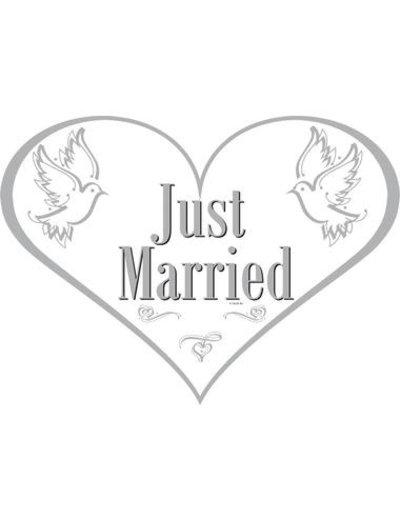 versiering Deurbord Just Married