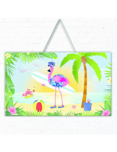versiering Deurbord Flamingo