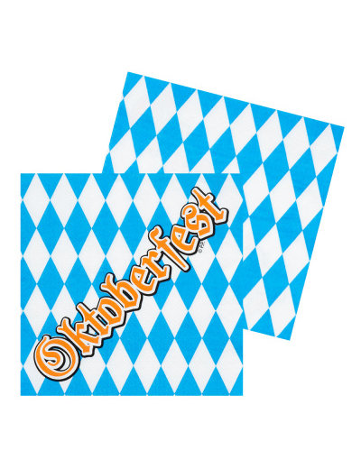 Accessoires Servetten Oktoberfest - 12stk