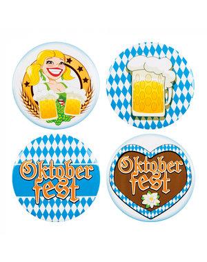 Accessoires Buttons Oktoberfest  - 4stk
