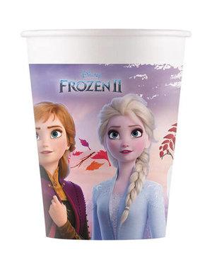 Tafelservies Bekertjes  Frozen II  Composteerbaar - 8stk/200ml