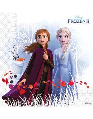 Tafelservies Servetten Frozen II  Composteerbaar - 20stk