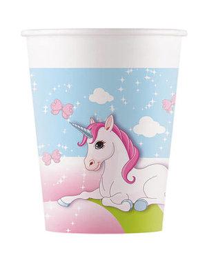 Tafelservies Bekertjes Unicorn Composteerbaar - 8stk/200ml