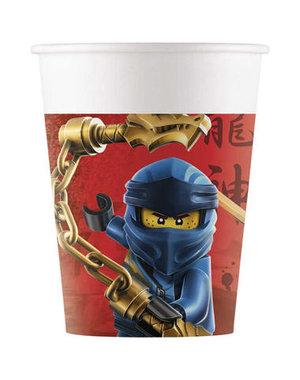 Tafelservies Bekertjes Lego Ninjago  Composteerbaar - 8stk