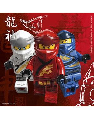 Tafelservies Servetten Lego Ninjago  Composteerbaar - 20stk